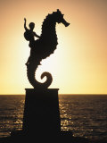 Statue of Boy Riding Seahorse  Bay of Banderas  Puerto Vallarta  Mexico