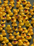 The Make-A-Wish Foundation Releases Rubber Ducks into the Ocean Papier Photo