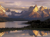 Lake Pehoe and Paine Grande at Sunrise  Torres del Paine National Park  Patagonia  Chile