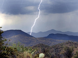 Lightning Strikes in the High Desert North of Phoenix  Ariz