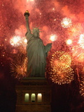 Grucci Fireworks Light the Sky Over the Statue of Liberty