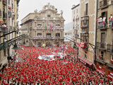 The &quot;Chupinazo&quot; the Official Opening of the 2006 San Fermin Fiestas
