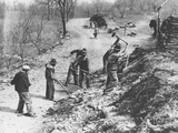 Works Progress Administration (Wpa) Workers Build a New Farm-To-Market Road