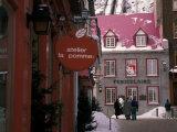 Quartier de Petit Champlain  Quebec City  Quebec  Canada