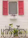 Beach House and Bicycle  Loyalist Cays  Bahamas  Caribbean