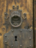 Lock on Historic Lom Stave Church  Norway