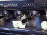 Cappucino Machine and Cups  Rome  Italy