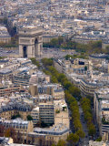 View from Eiffel Tower  Arc de Triomphe  Paris  France