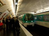 Commuters Inside Metro Station  Paris  France