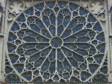 South Rose Window of Notre-Dame  Paris  France