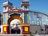 Entrance Gate to Luna Park  Melbourne  Victoria  Australia