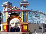 Entrance Gate to Luna Park  Melbourne  Victoria  Australia