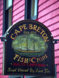 Fish and Chips Sign  Cape Breton  Sydney  Nova Scotia  Canada
