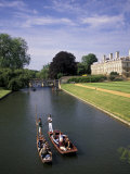 Punting on the Backs  Cambridge  England