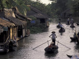 Row Boat on the Mekong Delta  Vietnam