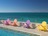 Colorful Pool Chairs at Compass Point Resort  Gambier  Bahamas  Caribbean