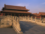 Traditional Architecture in Forbidden City  Beijing  China