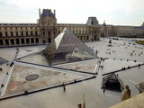 A View of the Louvre Pyramid  and the Southern Wing of the Louvre Building