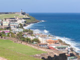View towards El Morro from Fort San Cristobal in San Juan  Puerto Rico