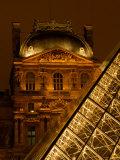 Louvre Museum at Night  Paris  France