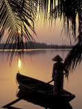 Evening View on the Mekong River  Mekong Delta  Vietnam