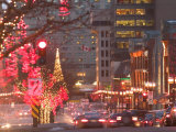 Avenue McGill College with Christmas Decor  Montreal  Quebec  Canada