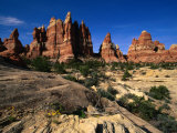 Chesler Park Trail in Needles Region  Canyonlands National Park  USA