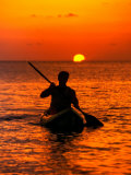 Sea Kayaking at Sunset  Bahama Out Islands  Bahamas
