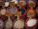 Beans and Grain at Market in Campo de' Fiori  Rome  Italy
