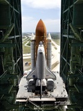 The Space Shuttle Discovery Begins Its Six Hour Trek from the Vehicle Assembly Building