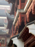 Traditional Architecture with Upturned Eaves  Shanghai  China
