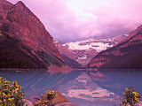 Dawn on Lake Louise  Alberta  Canada