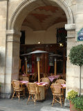 Sidewalk Cafe in the Marais  Paris  France