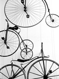 Bicycle Display at Swiss Transport Museum, Lucerne, Switzerland Papier Photo par Walter Bibikow