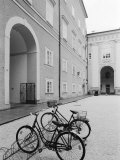 Bicycles in the Domplatz  Salzburg  Austria