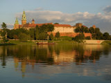 Wawel Hill with Royal Castle and Cathedral  Vistula River  Krakow  Poland