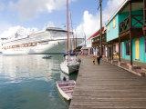 Golden Princess Cruise Ship Docked in St John's  Antigua  Caribbean