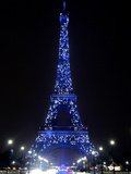 The Eiffel Tower Shows Blue Lighting to Mark Europe&#39;s Day