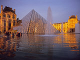 Louvre Pyramid  Paris  France