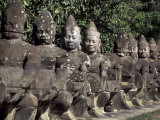 Buddha Statues at the Bayon  Angkor  Cambodia