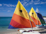 Sailboats on the Beach at Princess Cays  Bahamas