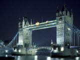 Tower Bridge at Night  London  England