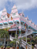 Dutch Architecture of Oranjestad Shops  Aruba  Caribbean