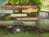 Old Truck with Spice Signs  Basse-Terre  Guadaloupe  Caribbean