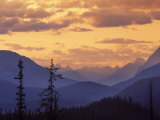Sunset in Banff National Park  Alberta  Canada