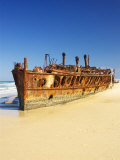 Wreck of the Maheno  Seventy Five Mile Beach  Fraser Island  Queensland  Australia