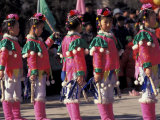 Children&#39;s Performance Celebrating Chinese New Year  Beijing  China