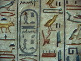 Hieroglyphic Symbols at the Tomb of Amon-her-Khopechef  Egypt