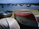 Pleasure Boats on Beach at Watson's Bay with Sydney City Skyline in Distance  Sydney  Australia