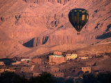 Hot Air Balloon Over the Theban Hills  Luxor  Egypt